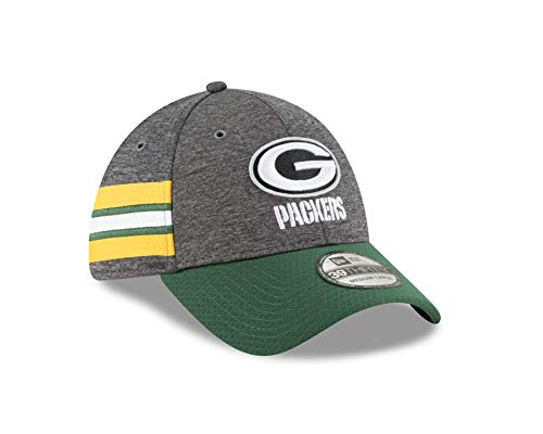 New Era Green Bay Packers NFL Sideline Home 39THIRTY Stretch Fit Cap, L/XL (Green Bay Packer New Era Hat)