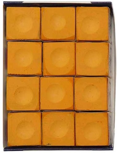 (Sterling Gaming Silver Cup Orange Pool Cue Chalk - 12 Pc Set)