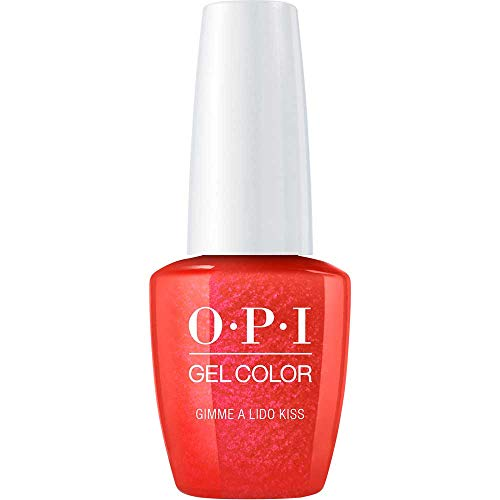 OPI Gel Color Nail Polish, Gimme A Lido Kiss, 0.5 Ounce ()