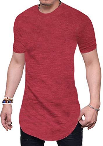 JOKHOO Mens Short Sleeve Hipster Hip Hop Basic Henley T Shirt for Men