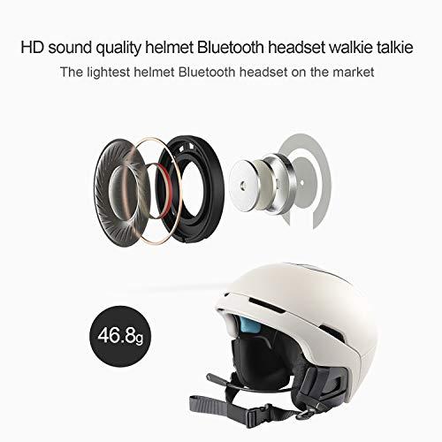 Lemnoi E1 Auriculares Motocicleta Cascos Bluetooth 4.1, Bluetooth Manos Libres Moto Casco Auricular Altavoces música Mic Control de Llamadas: Amazon.es: ...