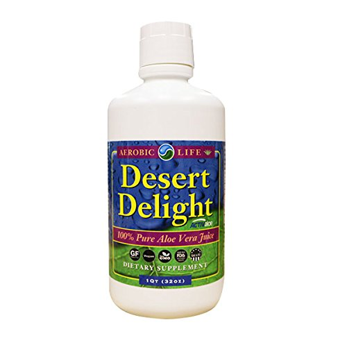 Aerobic Life Desert Delight 100% Pure Aloe Vera Juice Dietary Supplement, 32 Ounce