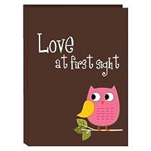 Pioneer Photo Albums I-46B/O 36-Pocket Baby Owl Designer Photo Album, Pink