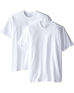 Calvin Klein Men's Tall-2 Pack Cotton Classics Short Sleeve Crew Neck T-Shirt