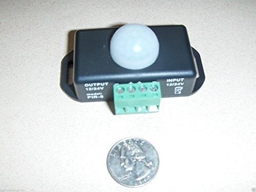 12 VOLT Motion Detector sensor switch PIR 12-12 volt DC w/timer great for LED's (Black & Amp ; Decker Inverter)