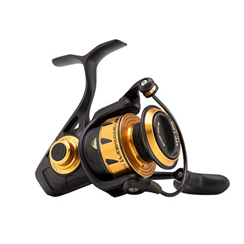 "Penn 1481260 Spinfisher VI Spinning Saltwater Reel, 2500 Reel Size, 6.2: 1 Gear Ratio, 33"" Retrieve Rate, 6 Bearings, Ambidextrous"
