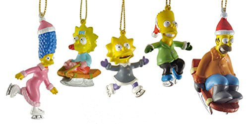 Click for larger image of Kurt Adler 5-Piece Miniature The Simpsons Christmas Ornament Gift Set