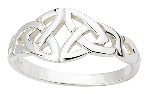 - Failte Trinity Knot Ring Sterling Silver Irish Made (5.5)