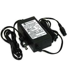 ZAITOE 24 Volt 1.5A 36W Scooter Battery Charger for Razor Electric Scooter E100 E150 E200 E225S E300 E325S MX350 for Razor Mini Chopper, 3-Prong Inline US Plug