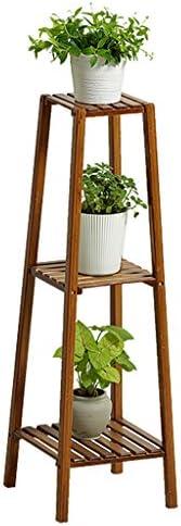 固体木製フラワーラックラックディスプレイラック、植物、植物の植木鉢ラック、屋内と屋外のバルコニーのリビングルーム保管室