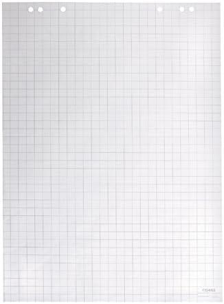 Dahle Bürotechnik Flip-Chart-Block Dahle 95037, weiß, Offset, 80 g/qm, kariert/blanko, 20 Blatt