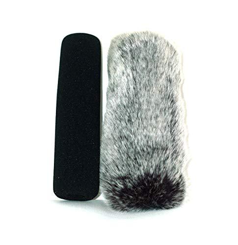 18cm Furry fur MIC Windshield Windscreen Compatible for Rode Ntg-3 ntg-2 ntg-1 Sony ECM-674 ECM-678 ECM 680s Audio-Technica AT897 Sennheiser MKH416/MKE600 Microphone