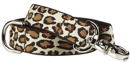 "Harry Barker Leopard Leash - 3/4"" x 6'"