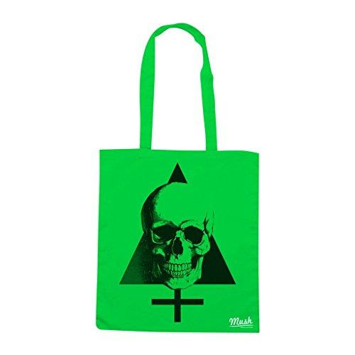 Borsa Skull Croce - Verde prato - Famosi by Mush Dress Your Style