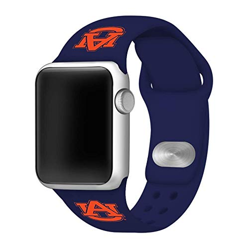 (Affinity Bands Auburn Tigers Navy Silicone Sport Band Compatible with Apple Watch - Band ONLY (42mm/44mm Navy))