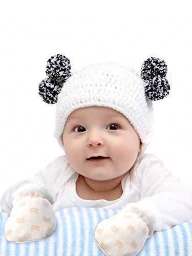 Blulu 3 Pairs Baby Mitten Gloves Warm Cotton Gloves Baby Boys Girls Winter Mittens Infant Newborn Wool Lined Mittens for 0-12 Months