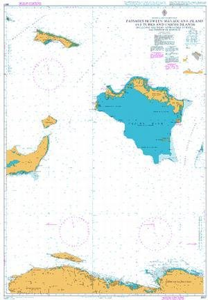 BA Chart 3907: Passages Between Mayaguana Island and Turks & Caicos Is inc Northern Apps to Haiti & Dominican Rep
