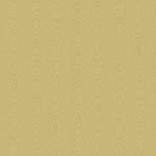 York Wallcoverings WM2562 Williamsburg Palace Moire Wallpaper, Matte Tan On Tan Sheen