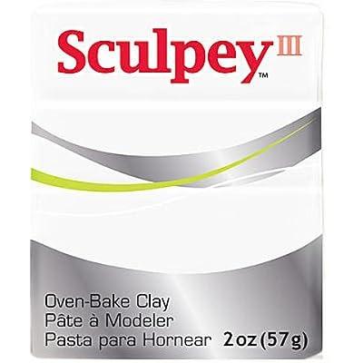 Sculpey Iii Polymer Clay 2oz-White: Toys & Games