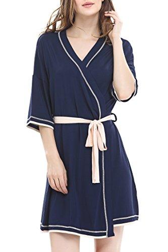 Jersey Knit Bath Robe - 7
