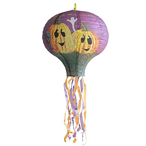 40CM Colorful Foldable Paper SOUFUN Hot Air Balloon Lanterns With Many Patterns (Purple (A Salt And Battery Halloween Costume)