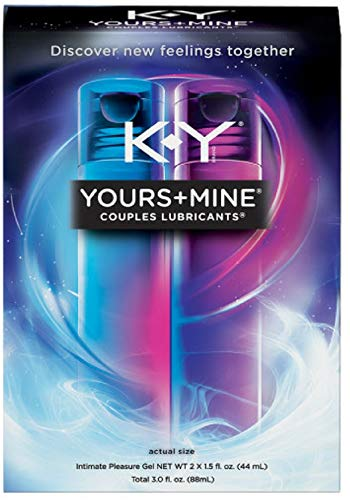 K-Y Yours & Mine Couples Lubricant, 3 oz (Pack of 2)
