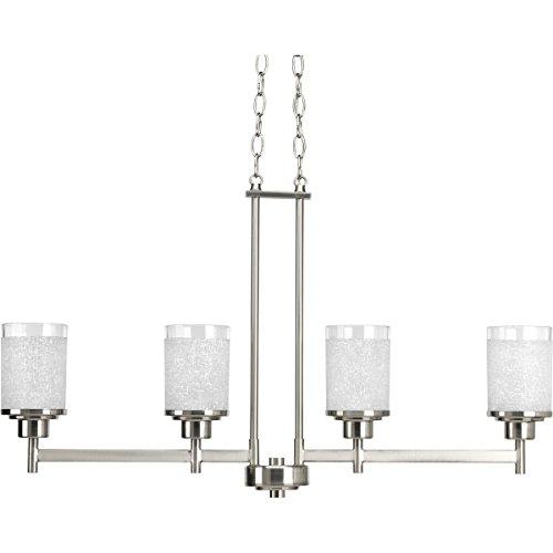 Progress Lighting P4619-09 4-100W MED Linear Chand, Brushed Nickel