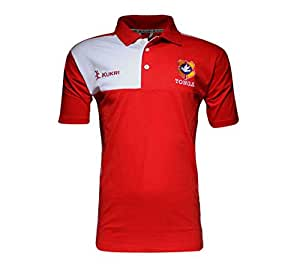 2015-2016 Tonga Kukri Players Rugby Polo Shirt (Red): Amazon.es ...