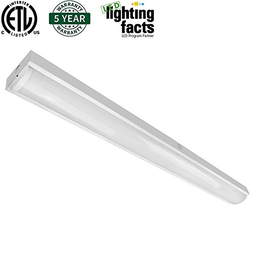 8 Ft 2 Lamp Fluorescent Strip Light White No Ssf2964wp 8ft: Hykolity 4FT LED Wraparound Flush Mount Ceiling Light 40W