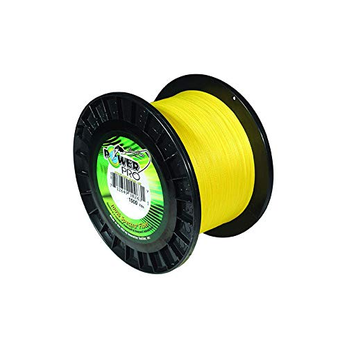PowerPro 21100151500Y Spectra Braided Fishing Line 15Lb 1500 Yd