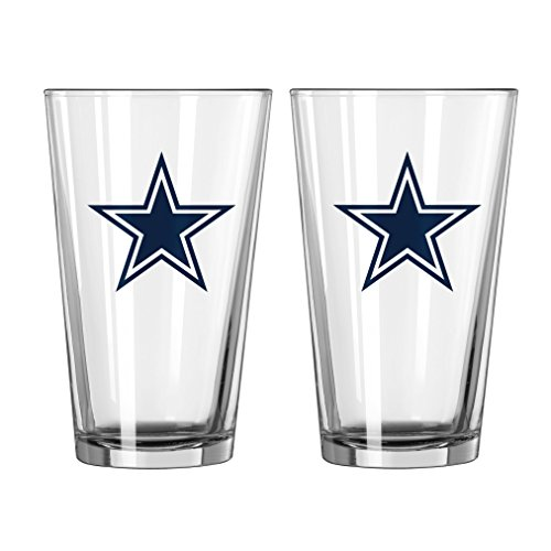 NFL Dallas Cowboys Game Day Pint, 16-ounce, - Glasses Cowboy