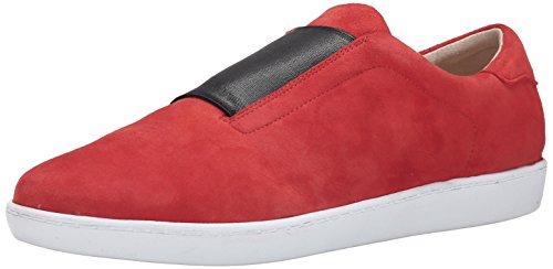 Nine West Kvinners Rumba Semsket Skinn Mote Sneaker Rød / Svart. sko; lær;  importert