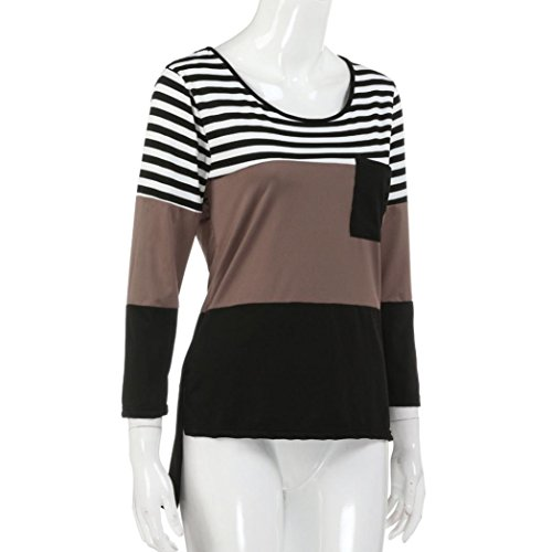 Casual Pullover O Stitching cou Femmes AIMEE7 Fqw50zz