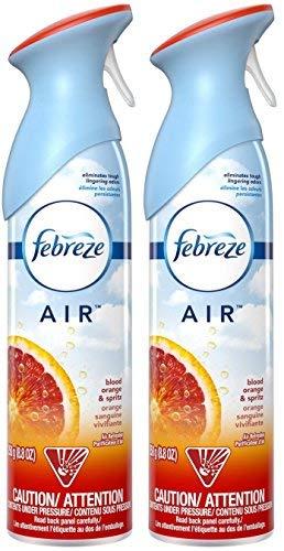 Febreze Air - Air Freshener Spray - Blood Orange & Spritz - Net Wt. 8.8 OZ (250 g) Per Bottle - Pack of 2 Bottles