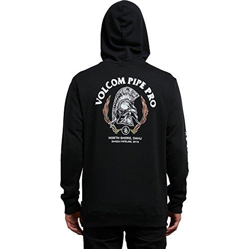 Volcom Men's Pipe Pro Zip up Fleece Hoodie, Black, XL Volcom Black Hoodie