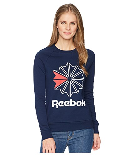 Crewneck Sweatshirts Reebok - Reebok Women's Classics Starcrest Crewneck, Collegiate Navy, Large