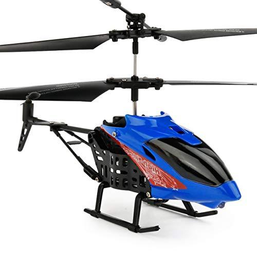 JX - 807ミニRCフライングヘリコプター充電式赤外線コントロール航空機子供のためのトランスミッターおもちゃを持つクアドコプター大人(:青)