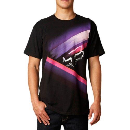 (Fox Racing Mens Glowstyx Basic Short-Sleeve Shirt, Black, Large)