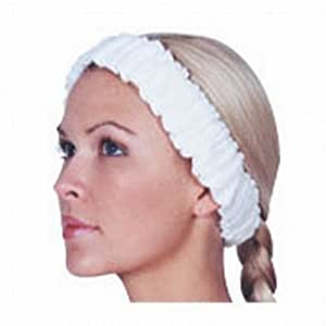 Scalpmaster Elasticized Spa Headband White (Pack of 3) by Scalpmaster