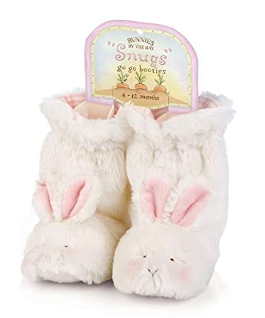 Bunnies by the Bay Cuddle Toe Slippers, White, 6-12 Months (Discontinued by Manufacturer) by Bunnies by the Bay