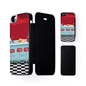 Diner Black Flip Case Snap-On Protective Hard Cover for Apple? iPhone 5 / 5s by Nick Greenaway + FREE Crystal Clear Screen Protector