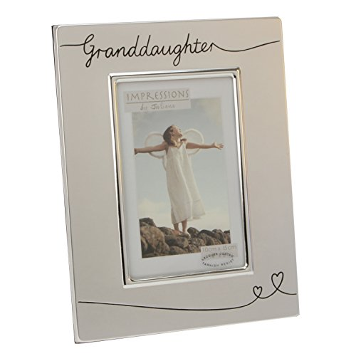 (Oaktree Gifts Silverplated Granddaughter Photo Frame 4 x 6 )