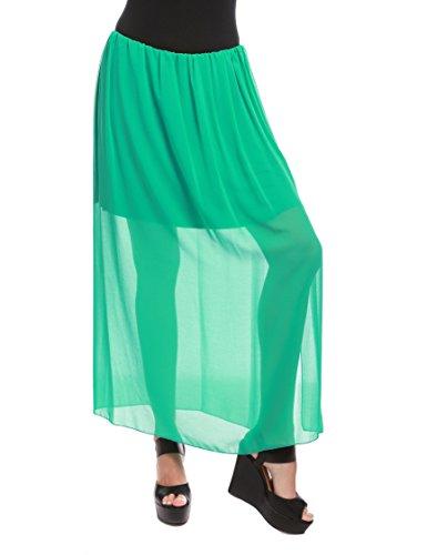 La Isla Del Sol Gonna con Vuolant Vde, Falda para Mujer Verde