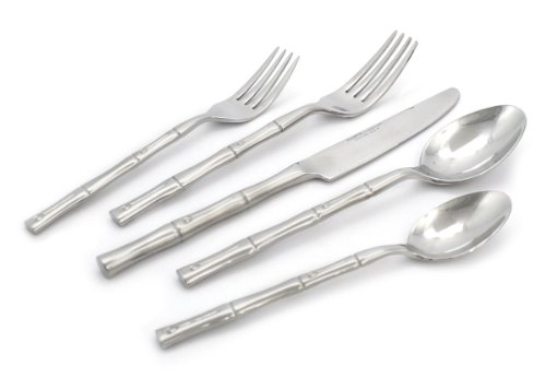 Hampton Forge L8520202NT Bamboo, 20 Piece Flatware Set