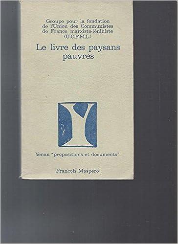 Le Livre Des Paysans Pauvres Ucfml Amazon Com Books