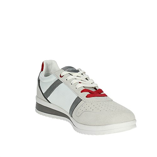 Scarpe US18UP01 U Gray Tessuto Tommy Uomo S Running ASSN White US Pelle Polo Bianco Scamosciata Sneaker POLO wwgR1qZC