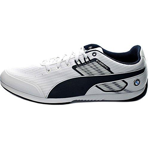 Puma Bmw Ms Everfit Uomo Punta Tonda Sneakers Bianche Sintetiche Bianche / Bmw Blu Squadra