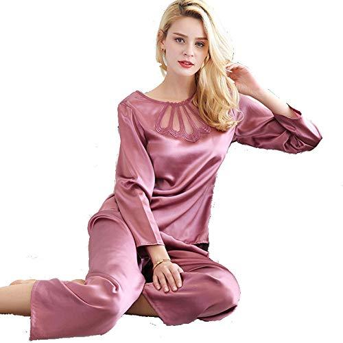 Camisón Mujer,pijamas Seda Encaje Dos Sexy Desgaste Mora Mujer Larga Piezas Fijados Casa De Manga Mujer,camisón Simple Para Ykduds dqvId