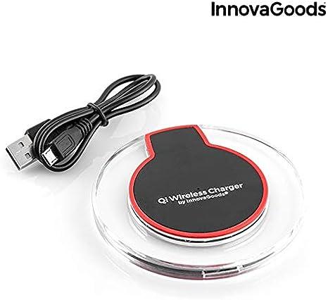 InnovaGoods | Cargador inlámbrico Qi para smartphones | Compatible con iPhone | Carga rápida