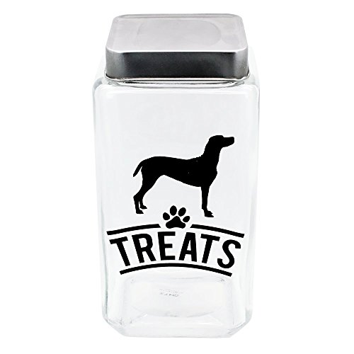 MODPAWS MP556 Doggie Silhouette Glass Canister/Treat Jar, os, Clear